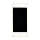 Moderner Touch Screen Smartphone lokalisiert auf weißem Hintergrund Stockfotografie