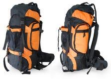Moderner touristischer Rucksack auf Weiß Stockfotos