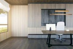 Moderner und minimaler Innenraum des Chefbüros Lizenzfreies Stockbild