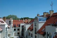Moderner und neuer Wohnblock Stockbild