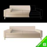 Moderner Vektor der Möbel 8 lizenzfreie abbildung