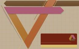 Moderne geometrische Schablone. Stockbild