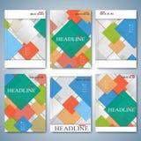 Moderner Vektorsatz von Broschüren, von Zeitschrift, von Flieger, von Broschüre, von Abdeckung oder von Bericht in der Größe A4 S stock abbildung