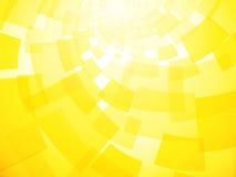 Moderner verdrehter hellgelber Hintergrund Stockfotos