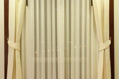 Moderner Vorhang im Hotel Stockbilder