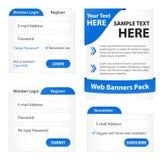 Moderner Web-Element-Satz Lizenzfreie Stockbilder
