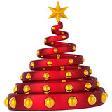 Moderner Weihnachtsbaumauszug (Mieten) Stockfoto