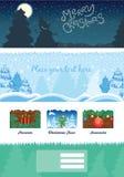 Moderner Weihnachtshintergrund Stockfoto