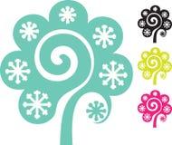 Moderner wintere Baum Lizenzfreie Stockbilder
