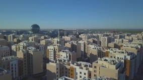 Moderner Wohnkomplex in Astana-Ausstellung stock footage