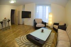 Moderner Wohnungs-Innenraum Lizenzfreie Stockfotos