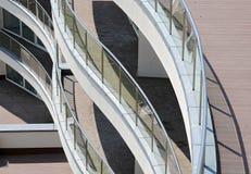 Moderner Wohnungsbalkon Stockfotografie