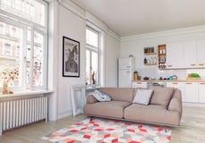 Moderner Wohnungsinnenraum Stockfotos