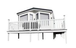 Moderner Wohnwagen lokalisiert auf Weiß Stockbilder
