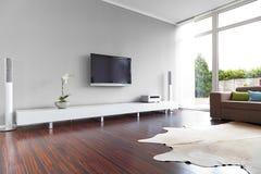 Moderner Wohnzimmer-Innenraum Stockfotografie
