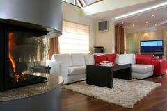 Moderner Wohnzimmerinnenraum lizenzfreie stockbilder