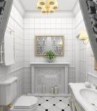 modernes 3d intérieurs rendent Images stock