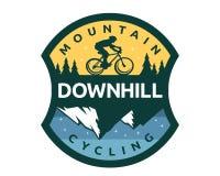Modernes abschüssiges Fahrrad Logo Badge Illustration Lizenzfreie Stockbilder