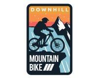 Modernes abschüssiges Fahrrad Logo Badge Illustration Lizenzfreie Stockfotografie
