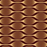 Modernes abstraktes Muster von verwobenen Linien Stockbilder