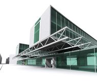 Modernes Architekturhaus stock abbildung
