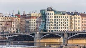 Modernes Architekturhaus in Prag Lizenzfreies Stockfoto
