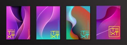 Modernes auffallendes Farbabdeckungs-Design lizenzfreie abbildung