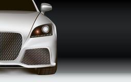 Modernes Auto. Dunkler Hintergrund mit Kopienraum Stockfotos
