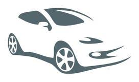 Modernes Autovektorsymbol stock abbildung