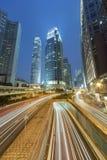 Modernes Büro des hohen Aufstieges, das in Hong Kong buiding ist lizenzfreies stockfoto