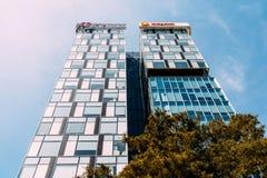 Modernes Bürogebäude im Nordbezirk von Bukarest-Stadt Lizenzfreie Stockbilder