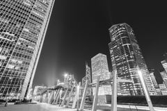 Modernes Bürogebäude und Skyline von Hong Kong City Stockfotografie