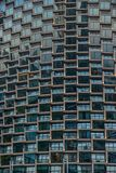 Modernes Bürogebäudedetail, Glasoberfläche stockfoto