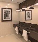 Modernes Badezimmer. Stockfotos
