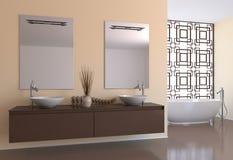 Modernes Badezimmer. Lizenzfreie Stockfotos