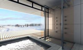 Modernes Badezimmer Stockfotografie