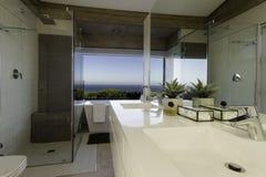 Modernes Badezimmerbecken Stockbild