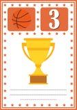 Modernes Basketballzertifikat mit Platz für Ihren Inhalt, für die Kinder drittplatziert lizenzfreie abbildung