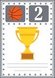 Modernes Basketballzertifikat mit Platz für Ihren Inhalt, für Kinderan zweiter stelle Platz Stockfoto