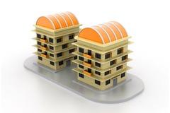 Modernes Bauvorhaben stock abbildung