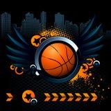 Modernes Bild des Basketballs stock abbildung
