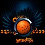 Modernes Bild des Basketballs lizenzfreie abbildung