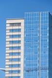 Modernes blaues Glas und konkrete Türme in Denver Lizenzfreie Stockfotos