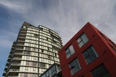 Modernes Block-Haus Stockfotografie