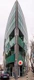 Modernes Bootsdesigngebäude in Bratislava lizenzfreie stockbilder