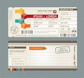 Modernes Bordkarte-Hochzeits-Einladungsdesign Tem Lizenzfreie Stockbilder