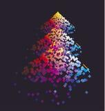 Modernes buntes Muster mit Farbquadrat Stockbilder