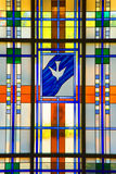 Modernes Buntglas Stockbild