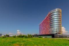 Modernes cueved Geschäftszentrum Stockfoto