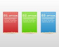 Modernes Design-Aufkleber können für infographics nummerierte Fahnengraphik oder -website benutzt werden Lizenzfreie Stockfotografie